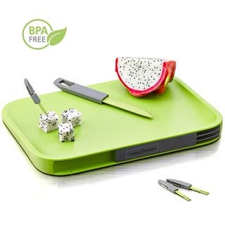 Plastic Cutting Board with Hidden Knife and Mini Forks