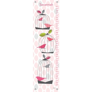 Oopsy Daisy 'Modern Birdcage' Canvas Growth Chart