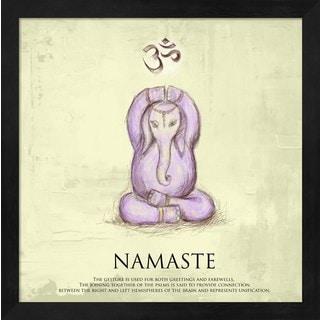 Veruca Salt 'Elephant Yoga, Namaste Pose' Framed Art