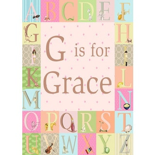 Oopsy daisy 'Classic Alphabet - Girl' 10 x 14-inch Stretched Canvas Wall Art
