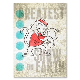 Oopsy daisy 'Big Top Monkey' 10 x 14-inch Stretched Canvas Wall Art