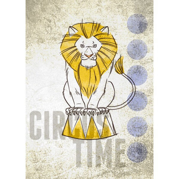 Oopsy daisy \'Big Top Lion\' 10 x 14-inch Stretched Canvas Wall Art ...