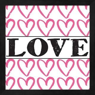 Louise Carey 'Love - Pink Sharpie' Framed Art