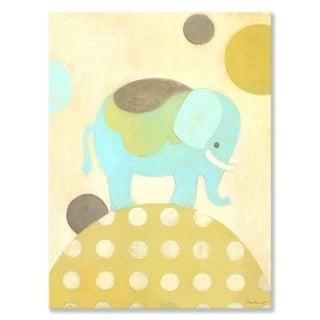 Oopsy daisy 'Ella Elephant' 10 x 14-inch Stretched Canvas Wall Art
