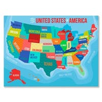 Oopsy Daisy the United States Of America Stretched Canvas Wall Art