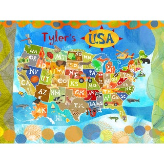 Oopsy daisy 'Explore the USA!' 40-inch Stretched Canvas Wall Art