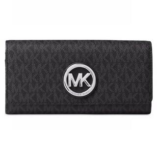 Michael Kors Fulton Signature Black Carryall Wallet