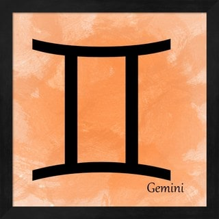 Veruca Salt 'Gemini - Orange' Framed Art