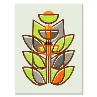 GreenBox Art + Culture 'Modern Topiary IV' 18 x 24-inch Stretched Canvas Wall Art