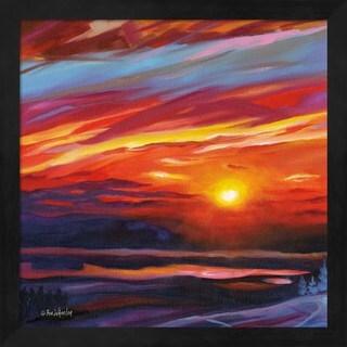 Eve Wheeler 'Mountain Top Sunset' Framed Art
