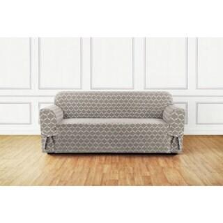 Sure Fit Ikat Tile Woven Sofa Slipcover