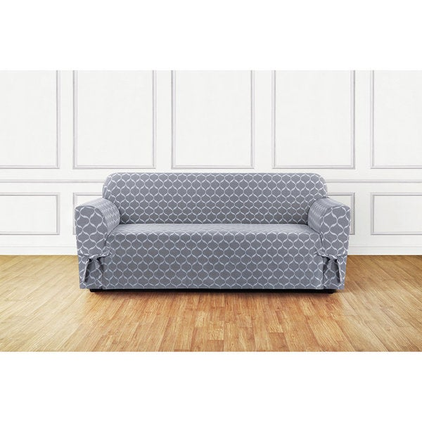 Sure Fit Ikat Tile Woven Sofa Slipcover