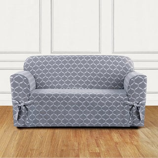 Sure Fit Ikat Tile Woven Loveseat Slipcover