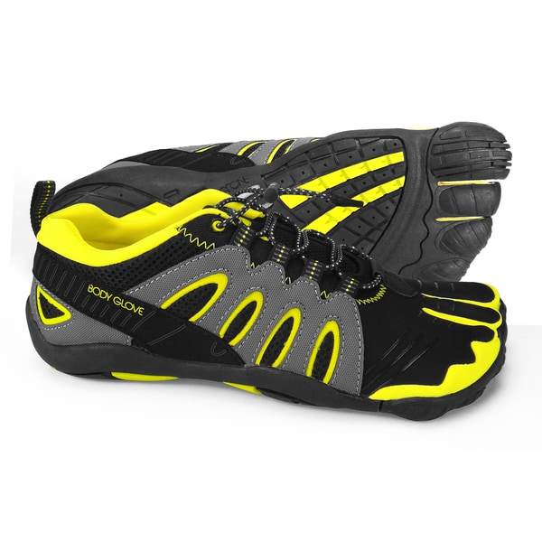 Men's 3T Barefoot Warrior Black/Yellow Shoes