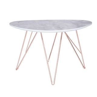 Euro Style Enzi Contemporary Grey and Gold 35-inch Coffee Table