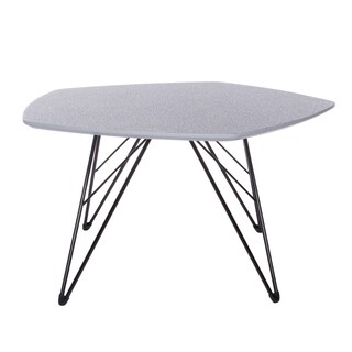 Euro Style Enzio Contemporary Grey/Black Steel and MDF 30-inch Coffee Table