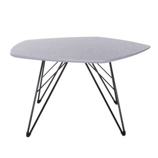Euro Style Enzi Contemporary Grey/ Black Steel and MDF 30-inch Coffee Table