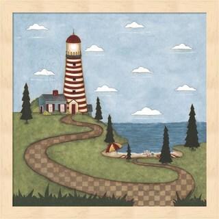 Robin Betterley 'Red And White Lighthouse' Framed Art