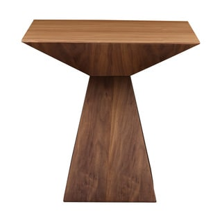 Euro Style Tad Brown Wood Side Table