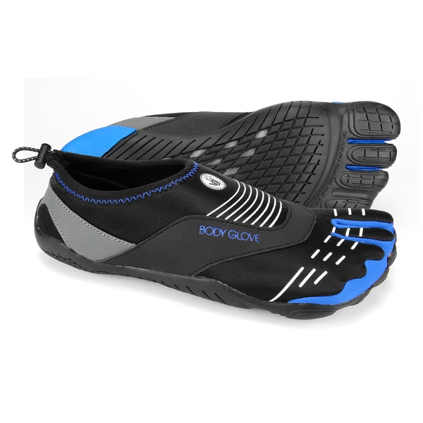 Body Glove Men's 3T Barefoot Cinch Black/White/Blue Water Shoes