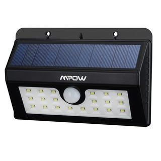 Mpow Outdoor Super Bright 20 LED Solar Powered Weatherproof Motion Light with 3 Intelligent Modes