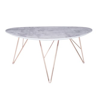Euro Style Enzi Grey/ Gold 24-inch Coffee Table