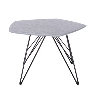 Euro Style Enzio Grey and Black MDF and Steel 22-inch Contemporary Coffee Table