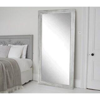 The Gray Barn Wilset Weathered Grey Floor Mirror