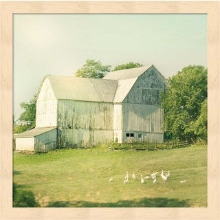 Sue Schlabach 'Farm Morning III Square' Framed Art
