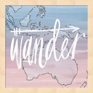 Sara Zieve Miller 'World Traveler Wander' Framed Art