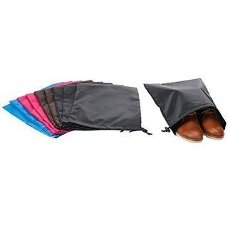 StorageManiac High Quality Soft Drawstring Shoe Bags for Shoe Storage, 10-Pack
