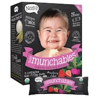 Nosh Baby Munchables Strawberry and Beet Organic Rice Teething Wafers (Pack of 26)