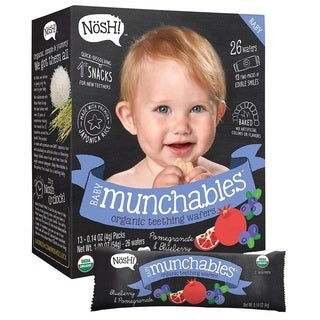Nosh Baby Munchables Pomegranate & Blueberry Organic Rice Teething Wafers (26 Count)