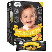 Nosh Baby Munchables Banana and Mango Organic Rice Teething Wafers (Case of 26)