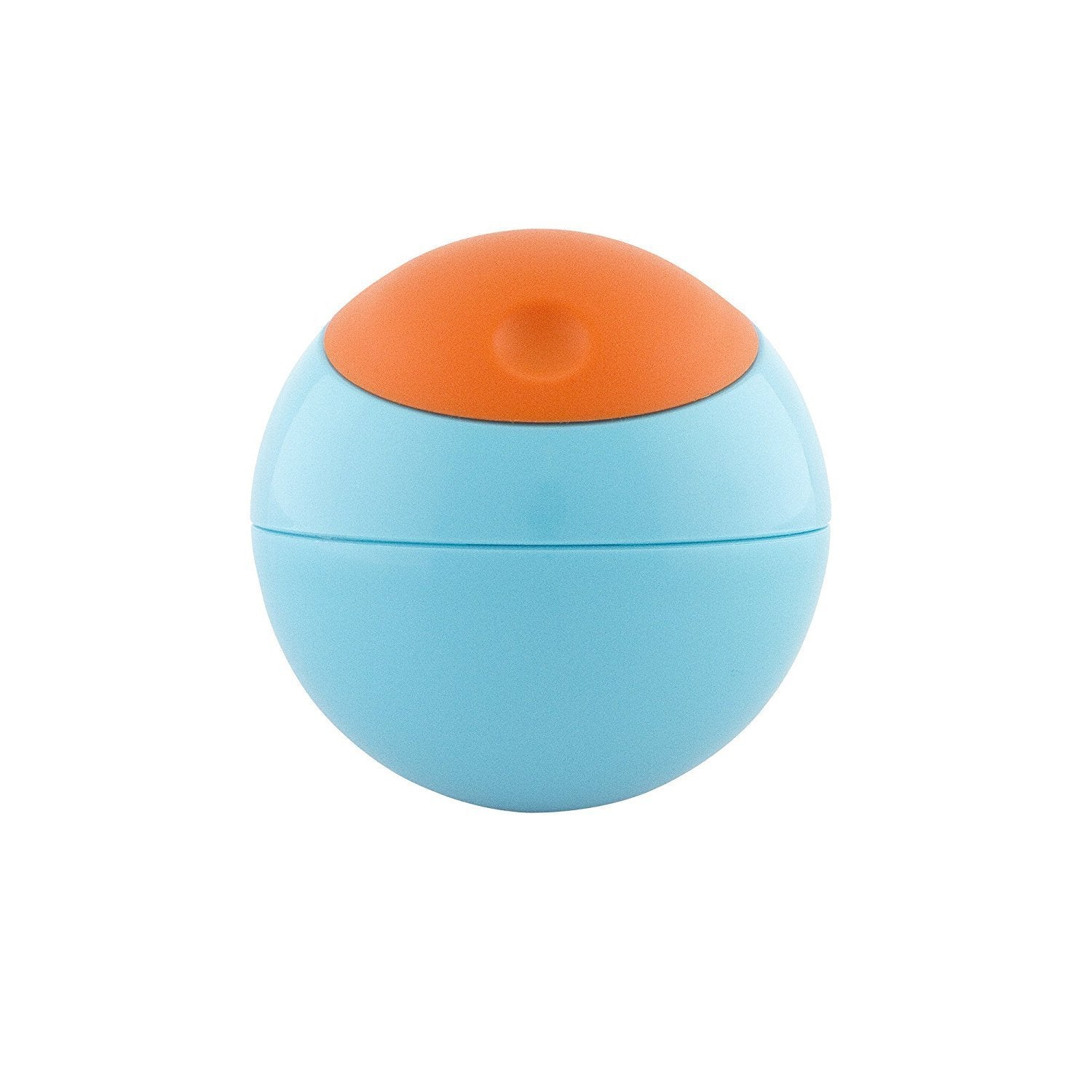 Boon Blue and Orange Plastic Snack Ball Container (Blue, ...
