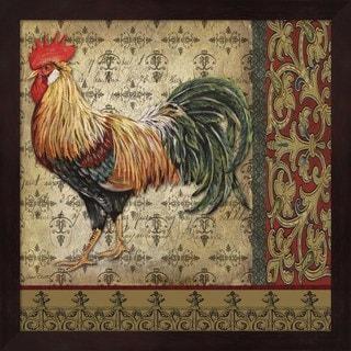 Jean Plout 'Vintage Rooster II' Framed Art