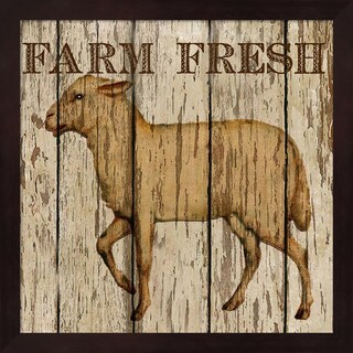 Beth Albert 'Farm Fresh Lamb' Framed Art