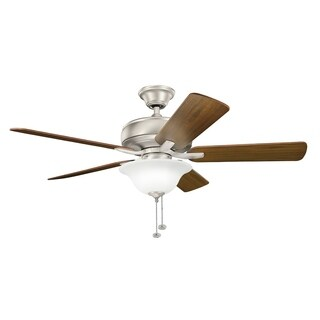 Kichler Lighting Terra Select Collection 52-inch Brushed Nickel Ceiling Fan w/Light - Brushed Nickel