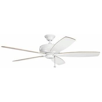 Kichler Lighting Terra Collection 60 Inch Matte White Ceiling Fan