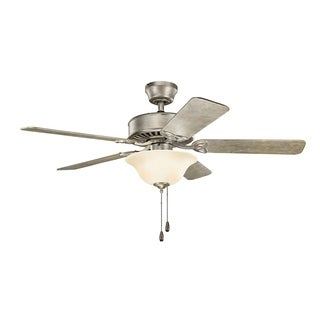 Kichler Lighting Renew Select Collection 50-inch Sterling Gold Ceiling Fan with Light