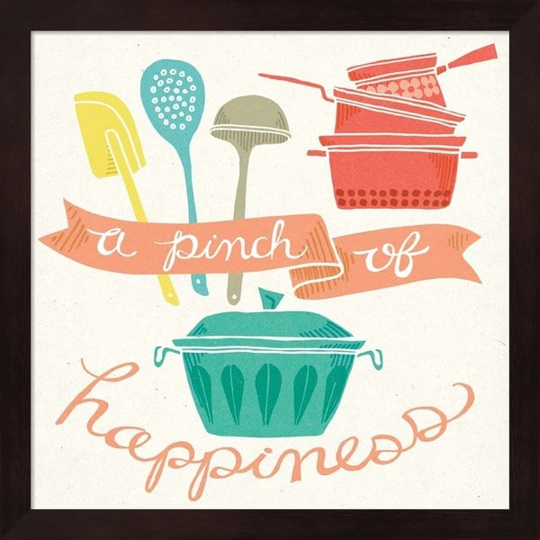 Mary Urban 'A Pinch of Happiness' Framed Art - Multi