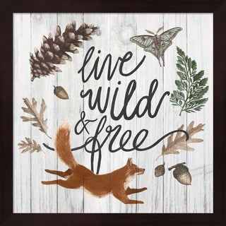 Sara Zieve Miller 'Live Wild and Free' Framed Art