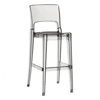 isy 29inch clear transparent bar stool set of 2