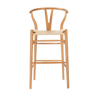 Evelina 30.12-inch Natural Bar Stool