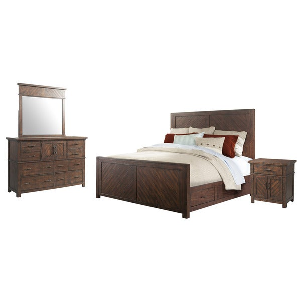 Picket House Furnishings Dex King Platform Storage 4PC Bedroom Set