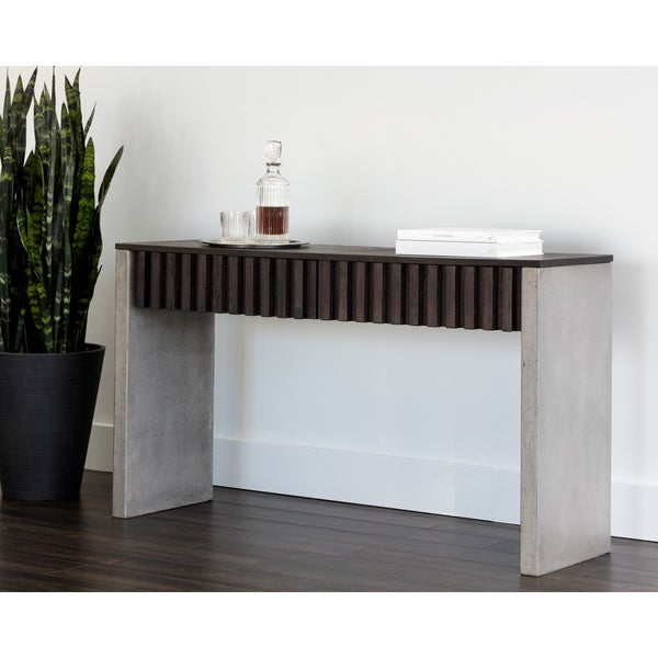 Bane Rustic Wooden Brown Entry Way Console Table