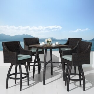 Deco 5pc Barstool Set in Bliss Blue