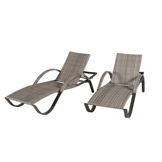 Cannes Woven Chaise Lounge Set 2pk