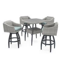 Cannes 5pc Barstool Set in Bliss Blue