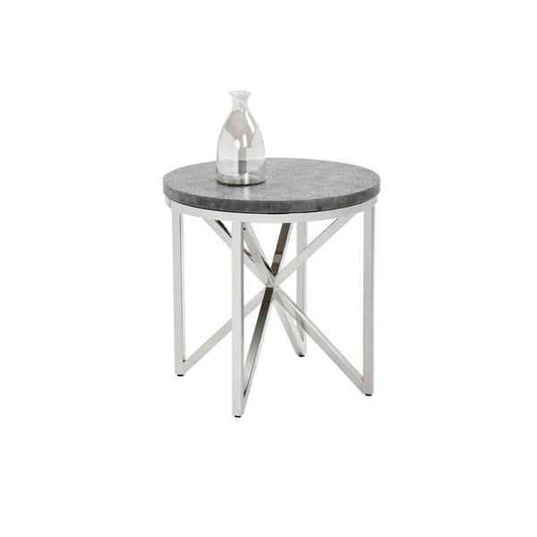 Dion Stencil Scales Modern End Table